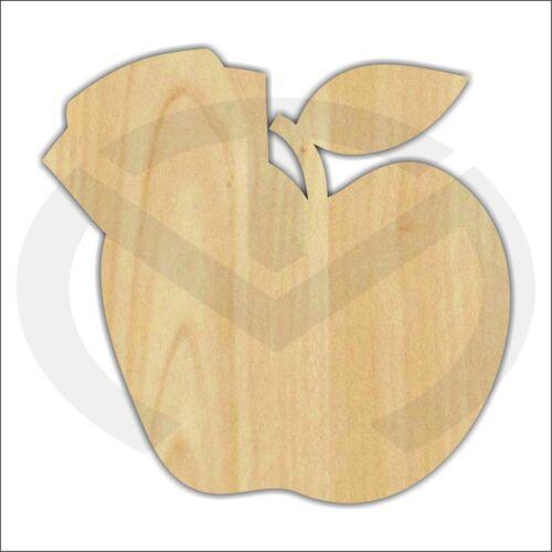 Unfinished Wood Apple with Nurse Hat Laser Cutout Door Hanger Wreath Accent