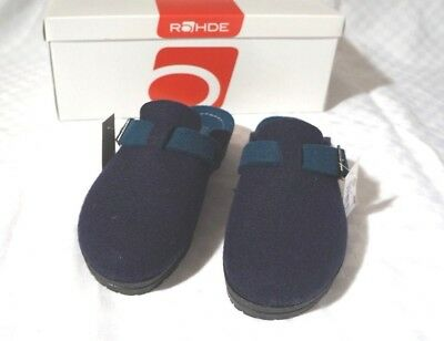 Pantofole Rohde Sandali Feltro Blu & Petrolio Tg. 37 2284-mostra Il Titolo Originale