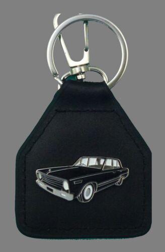 Chrysler VC Valiant Black sedan Leather Keyring //Keyfob