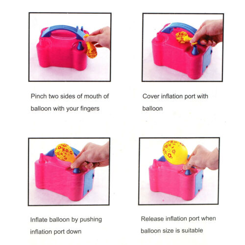 110V 600W High Power Portable Electric Air Blower Party Balloons Pump Inflator