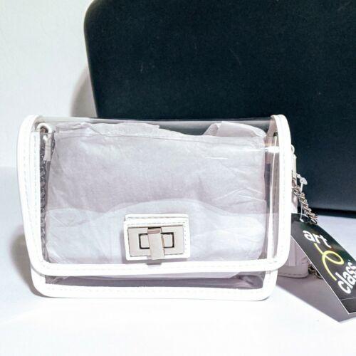 Art Class Girls/' Turnlock Crossbody Bag with Tassels New Clear Transparent