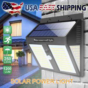 250-LED-Luces-al-aire-libre-Energia-solar-Sensor-De-Movimiento-Infrarrojo-Pasivo-Lampara-de-Pared