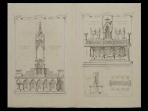 ARCHITECTURE-PRINTS-1872-ALTARS-FRANCE-CATHEDRAL