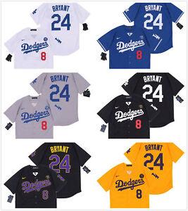 Men's Los Angeles Dodgers #8#24 Kobe Bryant Replica Jersey Pick ...