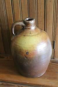 Early-Antique-Semi-Ovoid-Stoneware-Jug-Crock