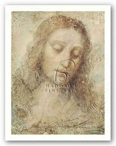 MUSEUM ART PRINT Christs Head Leonardo Da Vinci