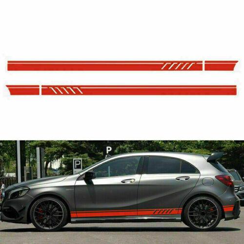 2x Car SUV Side Body Door Racing Long Stripe Vinyl Decals Decoration Sticker DIY