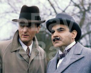 Poirot-TV-David-Suchet-034-Hercule-Poirot-034-Hugh-Fraser-10x8-Photo
