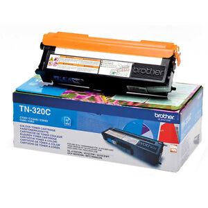 Genuino-Brother-tn-320c-TN320-cian-cartucho-de-Toner-Impresora-laser