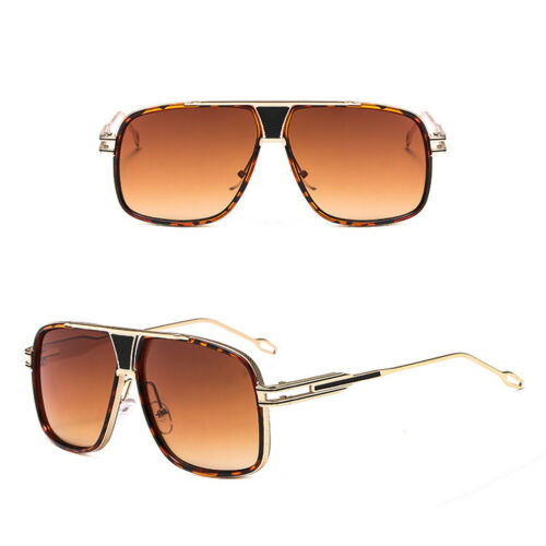 Designer Fashion Men/'s Women Square Aviator Sunglasses Metal Bar Retro Shade Hot