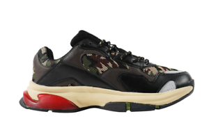SNKR Project Men's Park Avenue Sneakers Olive Camo Red 1807