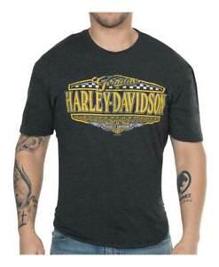 Harley-Davidson-Men-039-s-High-Performance-Rival-Short-Sleeve-Crew-Shirt-Black