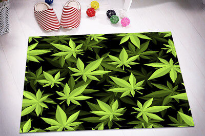 "15X23/"" marijuana Leaves Kitchen Bathroom Floor Non-Slip Bath Mat Rug Carpet 6090"