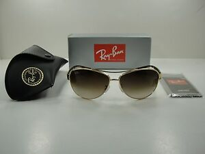 bb600143d1 RAY-BAN AVIATOR SUNGLASSES RB3386 001 13 GOLD TORTOISE BROWN ...