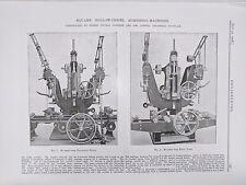 Square Hollow Chisel Mortising Machine Rochdale: 1908 Engineering Magazine Print