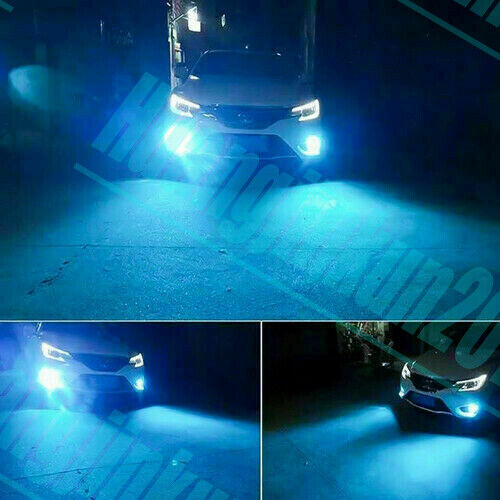 Ice Blue H8 H9 H11 COB LED Bulbs Low Beam Headlight w// Fan Super Bright Headlamp