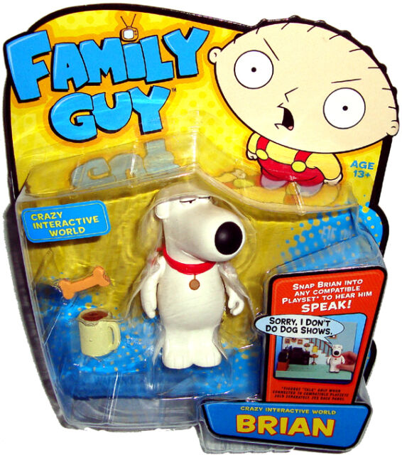 Family Guy Toys Toywiz : Family guy crazy interactive world brian action figure