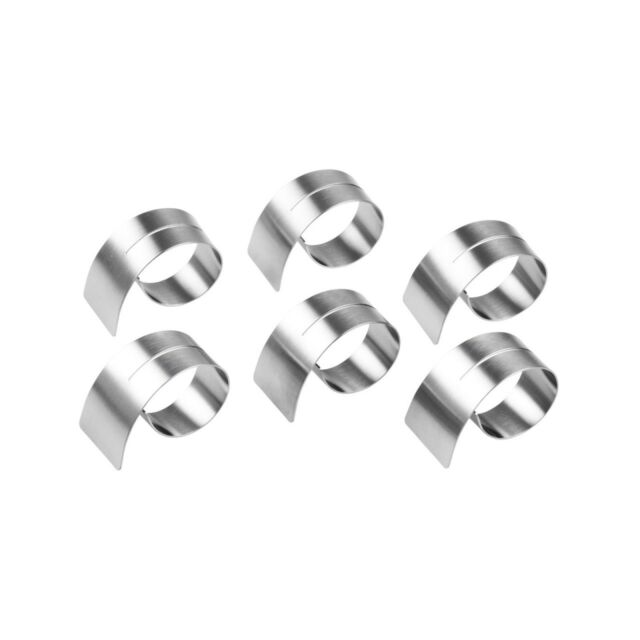 Set of 6 Zilverstad Napkin Rings Oval Silver