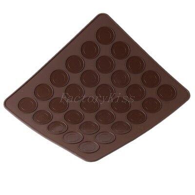 INU Silicone Macaron Macaroon Dessert Baking Pastry Cookie Sheet DIY 30 V108
