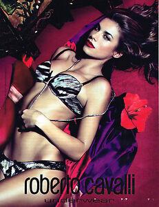 PUBLICITE ADVERTISING  2011   ROBERTO CAVALLI  soutien gorge sous vetements