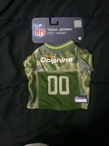 super cute 43d64 c166e Details about Pets First Miami Dolphins Camo Jersey, XS