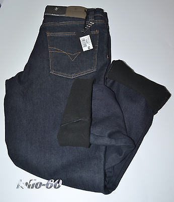 Romantico Jeans Uomo Termico 46 A 62 Foderato In Pile Caldo Strech Blu Sea Barrier Polar