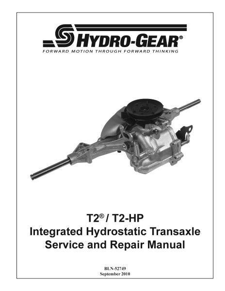 Transaxle T2-bdbf - 2X1A-16X1 Hydro Gear OEM TRANSMISIÓN DE BOMBA