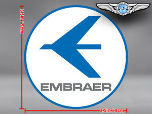 EMBRAER LOGO ROUND DECAL / STICKER