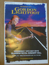 Gordon Lightfoot - Glasgow may 2016 concert tour gig poster