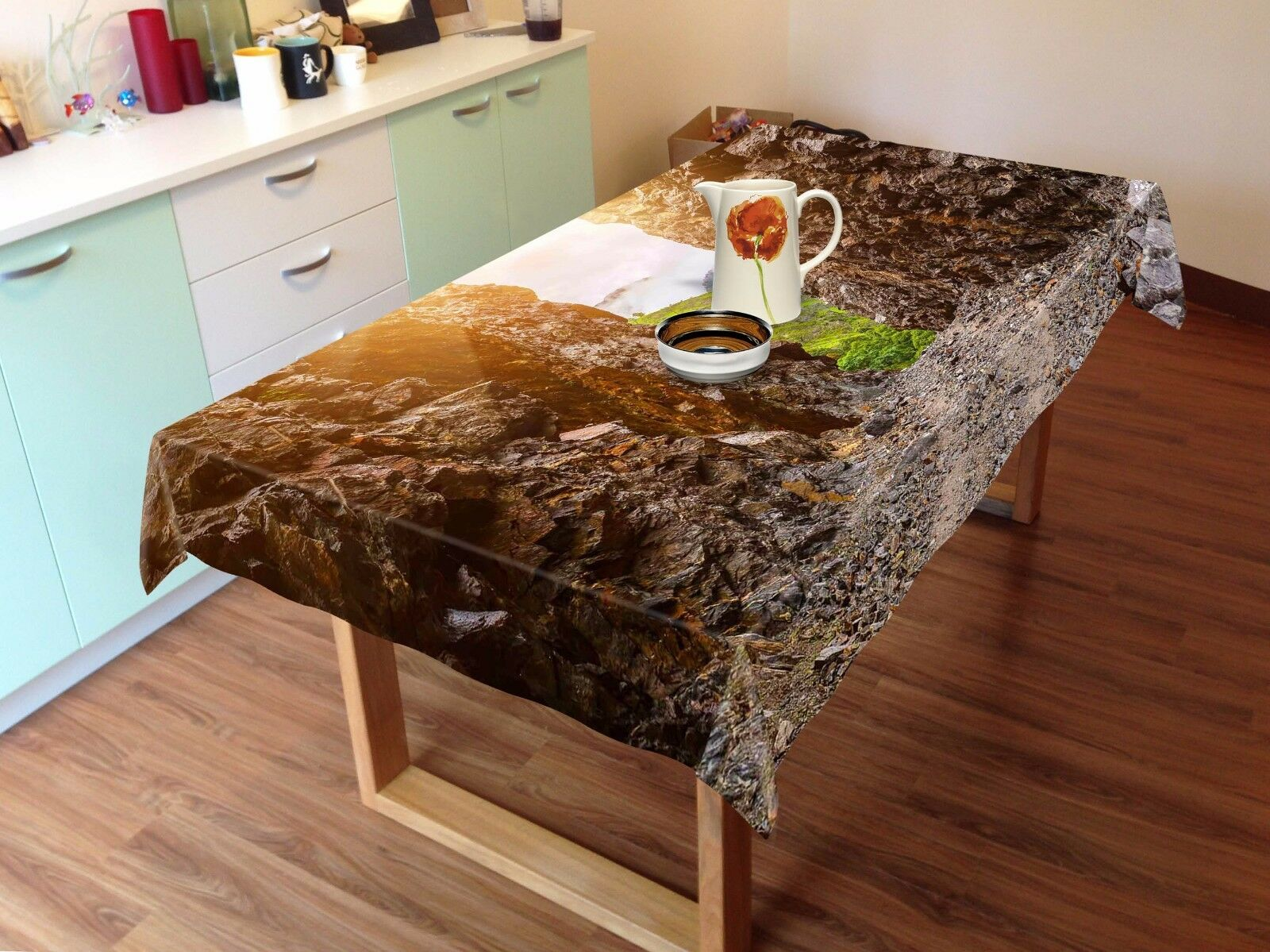 3D Stone 4818 Tablecloth Table Cover Cloth Birthday Party Event AJ WALLPAPER AU