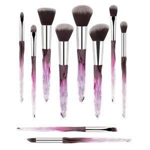 NEW-Glitter-Crystal-Makeup-Brush-Tools-Kit-Contour-Eyeshadow-Face-Blue