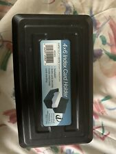 Black Plastic 4x6 Index Card Holder Innovative Storage Designs