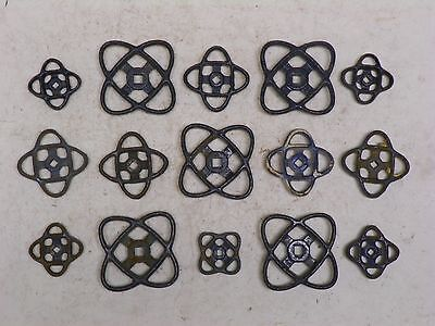 15 VINTAGE OLD IRON ATOMIC VALVE HANDLES FAUCET KNOBS STEAMPUNK INDUSTRIAL ART