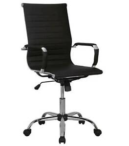 Otto-Franklin-Executive-Office-Chair-Leather-Black-New