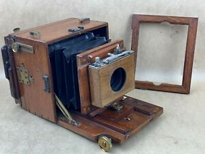 Watson-amp-Sons-Alpha-Tropen-Tropical-Antique-Wooden-English-Camera-w-Lens-Rare