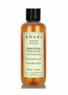 Khadi Henna Thyme Hair Tonic Hair Oil Healthy Hairs Soft And Smooth 210ml