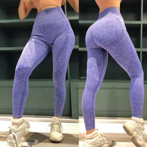 UK Women Yoga Leggings Ruched Fitness Sports Gym Exercise Running Stretch Pants