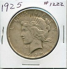 1925 $1 Silver Peace Dollar. Circulated. Lot #921