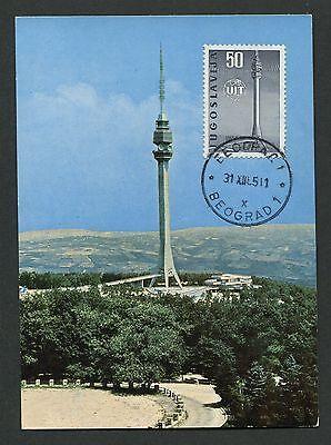 Stamps Strong-Willed Yu Mk 1965 Uit Fernsehturm Avala Maximumkarte Carte Maximum Card Mc Cm D3064