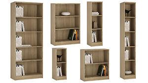 Image Is Loading Ferrer Oak Effect Bookcase Bookshelves Shelving Small Large
