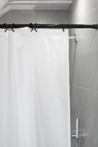 Barre de Rideau Douche 190-300 cm Noir Télescopique Inoxydable Extra Longue