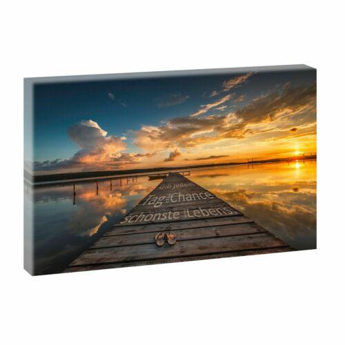 Strand Meer Wohnzimmer Bild Foto Leinwand Poster Wandbild XXL 100 cm*65 cm 739s1