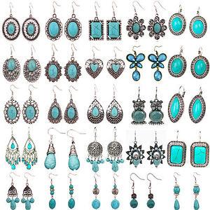 Image Is Loading Best Women Fashion Jewelry Tibetan Silver Vintage Turquoise