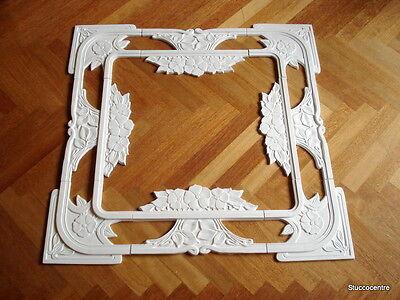 Stucco wunderschöne Jugendstil Rosette 102-039/38 Wand- Deckenspiegel Stuck