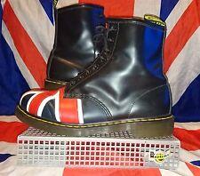 RARE 1460*England Union Jack Black Flag Dr Doc Martens*Skinhead Punk Goth Oi*12