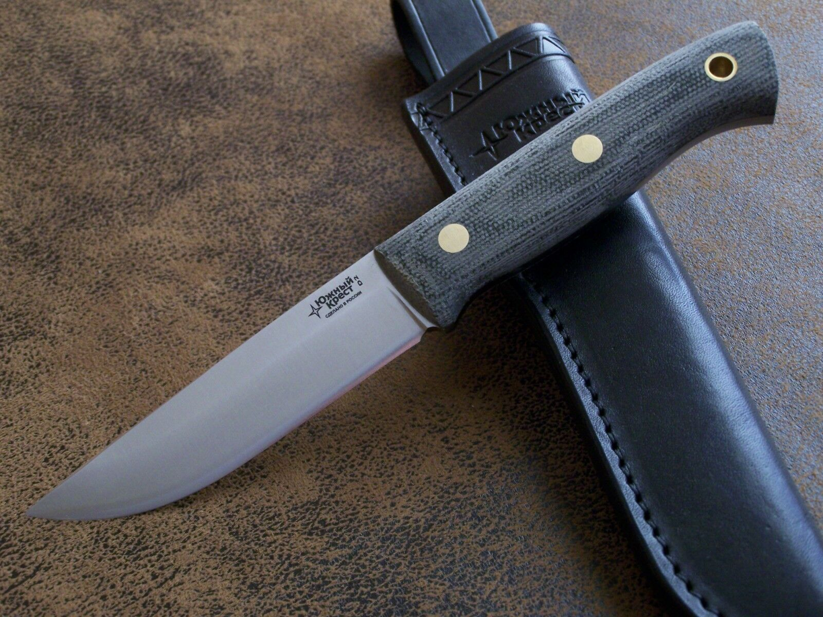 D2 Stahl 62-HRC NEU SÜDKREUZ CUSTOM Exklusives Messer Outdoormesser Jagdmesser