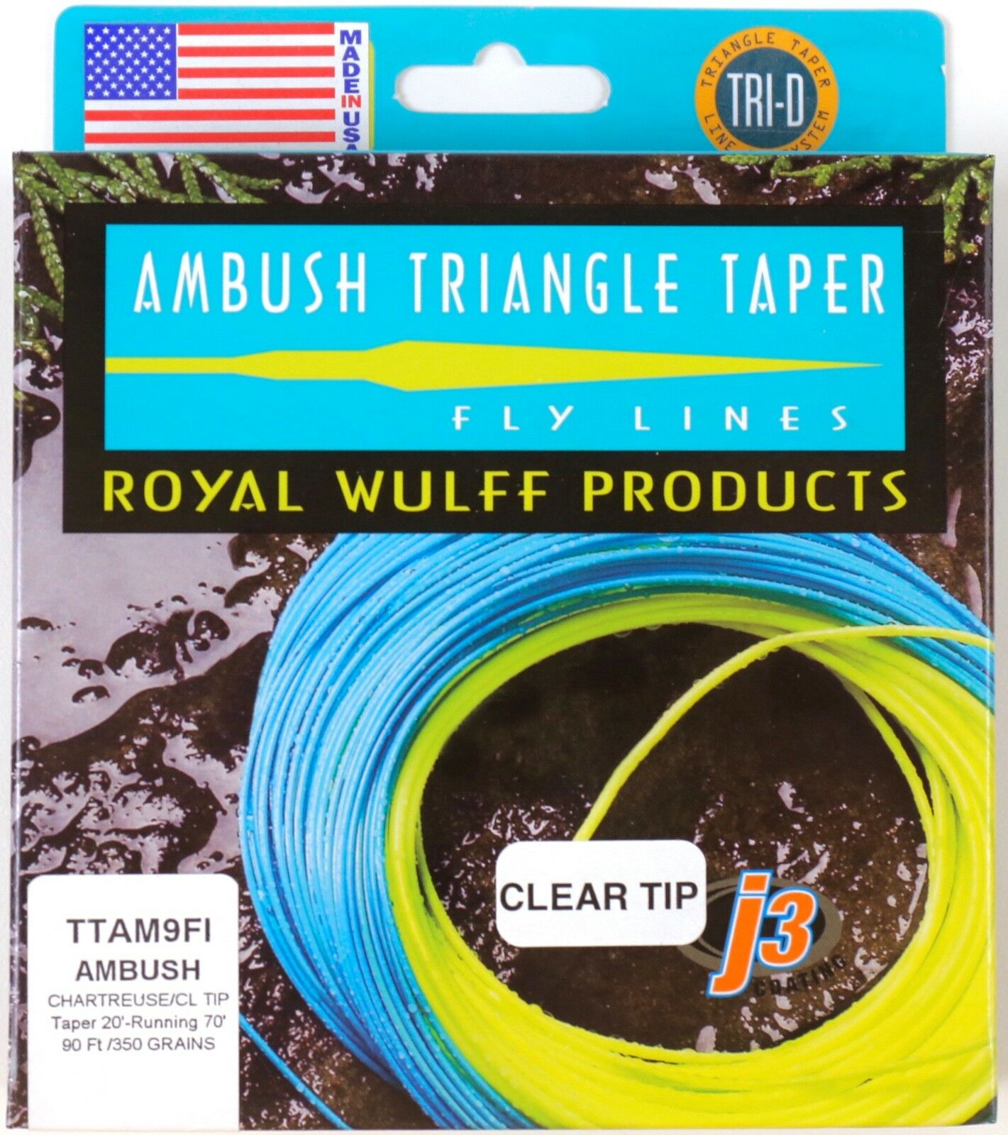 Royal Wulff Ambush Taper Clear Tip 9 Weight Fly Line Free Fast Shipping TTAM9FI