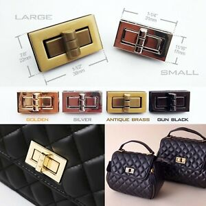 Image Is Loading Rectangle Turn Twist Lock Closure Clasp Fasteners Leather