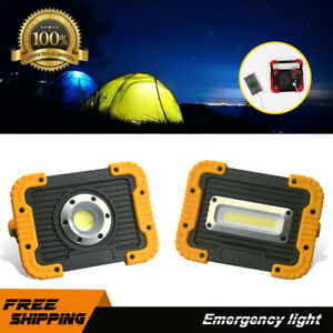 8000LM COB Portable Work Light Rechargeable Floodlight Camping Flood Lamp Stand