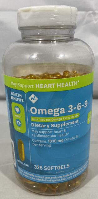 Member S Mark Omega 3 6 9 Dietary Supplement 1600 Mg Soft Gels